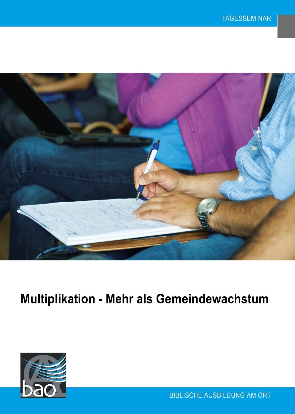 Multiplikation - mehr als Gemeindewachstum Image